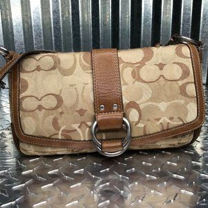 Coach Women's Canvas Leather Brown Vintage Logo